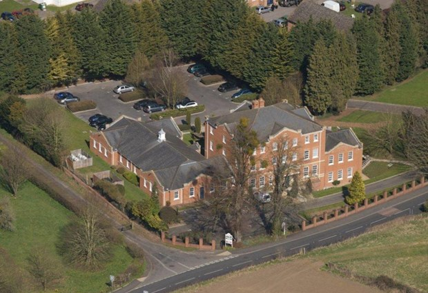 Aerial View of Grove House
